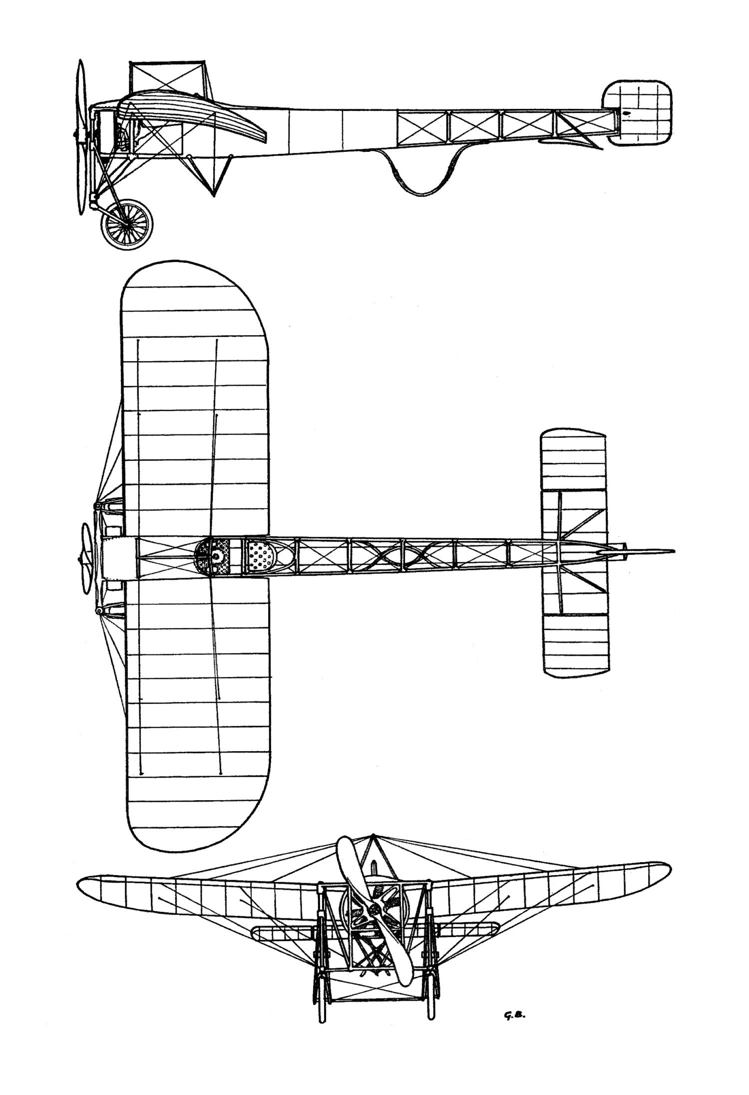 Monoplan «Blériot XI»  von Geo Chavez